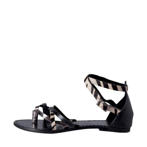 Pieces Sandalet Cari Leather Zebra 17056905-Blk