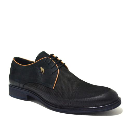 Dropland Hakiki Deri Günlük Siyah Nubuk Erkek Ayakkabı