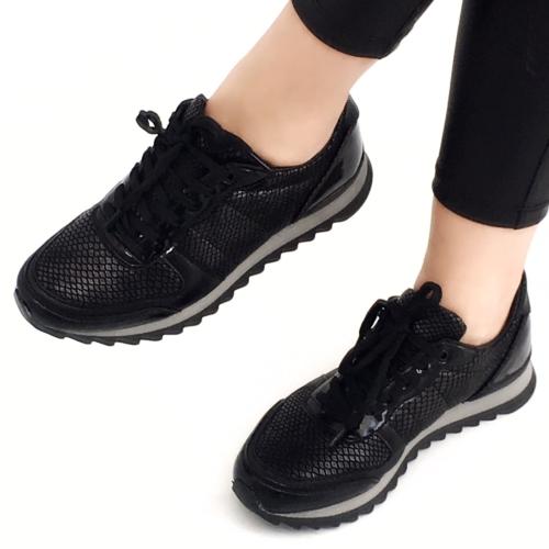 Mio Gusto Mio Gusto - Yılan Derisi Baskılı Kadın Spor Ayakkabı