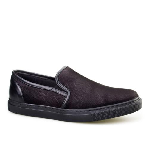Cabani Desenli Günlük Erkek Ayakkabı Lacivert Süet