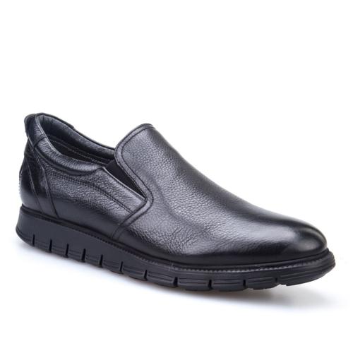 Cabani Extralight Günlük Erkek Ayakkabı Siyah Kırma Deri