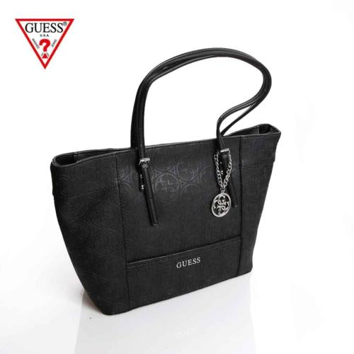 Guess Çanta Hwhl45 35230 Delaney Medium Classic Tote Black