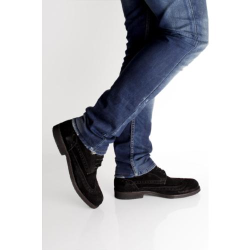 Gön 34209 Siyah Süet Deri Erkek Ayakkabı