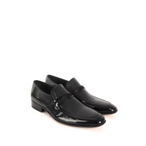 Gön Deri Erkek Ayakkabı 42741 Siyah Rugan