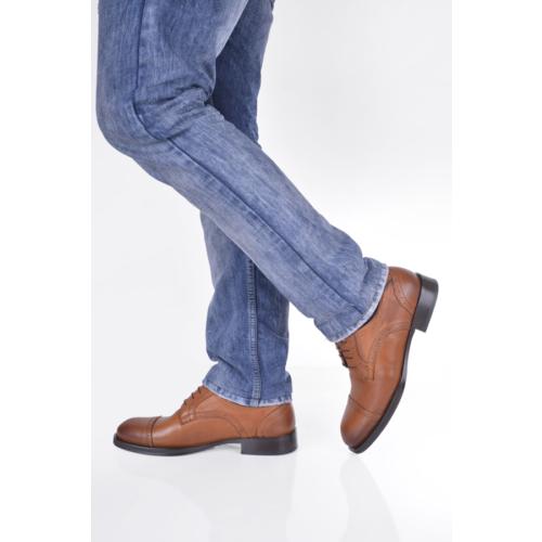 Gön 88598 Taba Antik Deri Erkek Ayakkabı