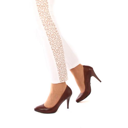 Gön Vizon Antik Deri Kadın Ayakkabı 22376