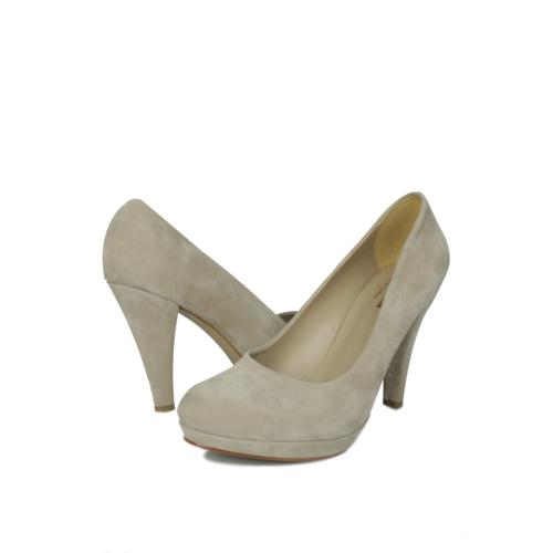 Loggalin 580401 031 327 Kadın Vizon Kadife Platform Ayakkabı