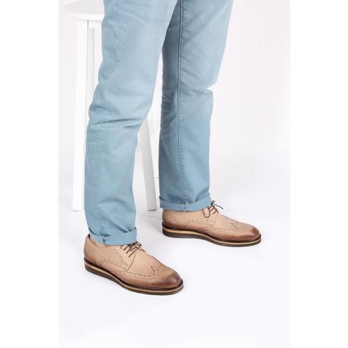 Gön 88131 Kum Antik Deri Erkek Ayakkabı