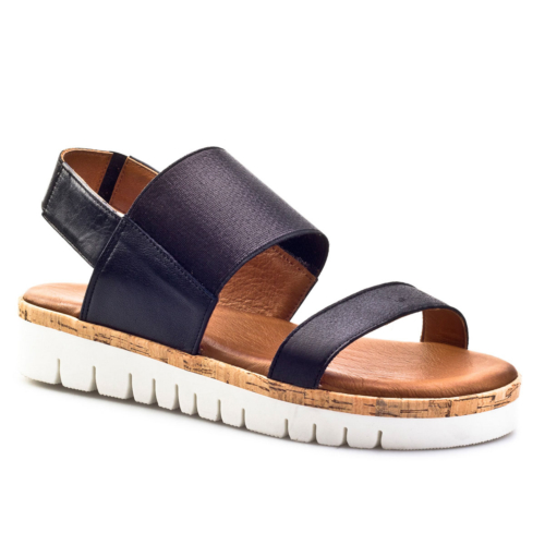 Inuovo Likra Bandlı Günlük Kadın Sandalet Siyah Derı 169,90 TL