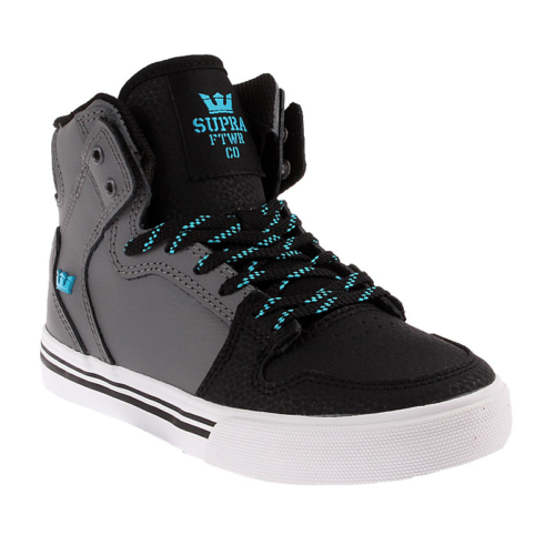 Kids Vaider-Charcoal / Black / Turquoise - White Sk11239 Çocuk Ayakkabı Charcoal/Black - Whıte