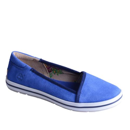 Timberland Ek Casco Bay Leather Slip On 8829A Kadın Blue Günlük Ayakkabı Casual