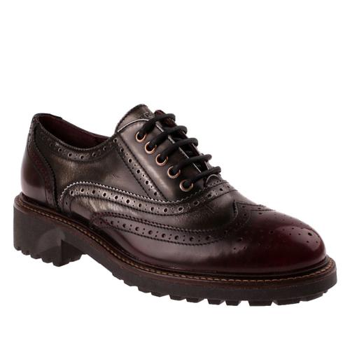 Frau 97X5 Kadın Ayakkabı Bordo Sılver