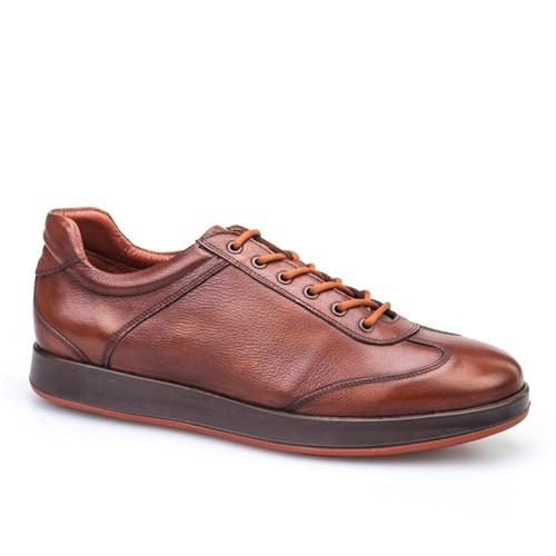Cabani Bağcıklı Spor Günlük Erkek Ayakkabı Taba Kırma