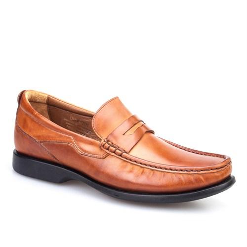 Cabani Kemerli Günlük Erkek Ayakkabı Taba Antik Deri