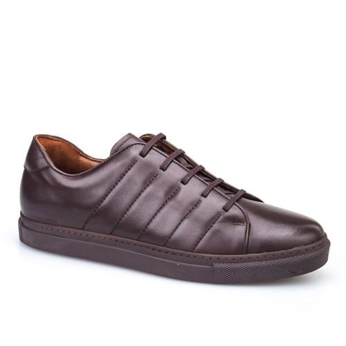 Cabani Dikişli Günlük Erkek Ayakkabı Kahve Deri