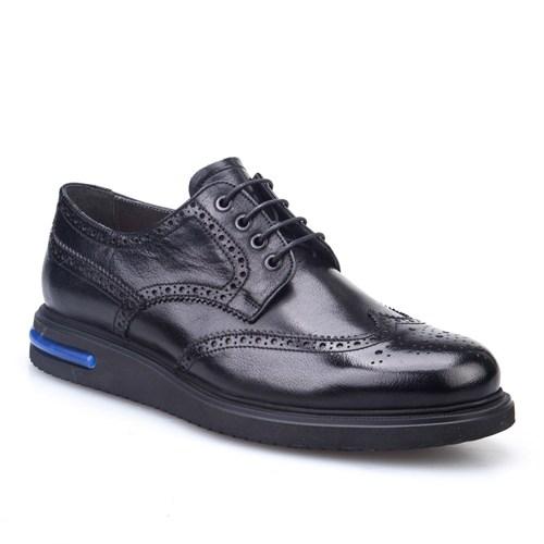 Cabani Oxford Günlük Erkek Ayakkabı Siyah Deri