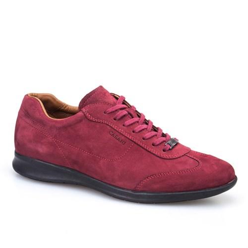 Cabani Bağcıklı Günlük Erkek Ayakkabı Bordo Nubuk
