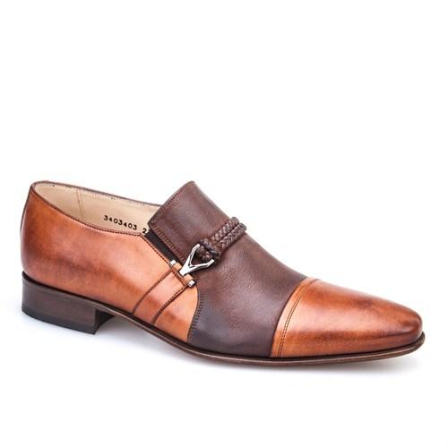 Nevzat Onay Tokalı Klasik Erkek Ayakkabı Taba Deri