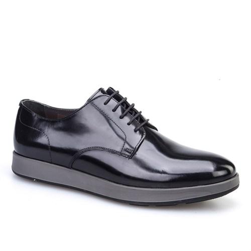 Cabani Bağcıklı Günlük Erkek Ayakkabı Siyah Açma Deri