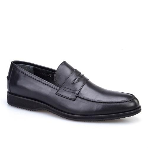Cabani Kemerli Klasik Erkek Ayakkabı Siyah Deri