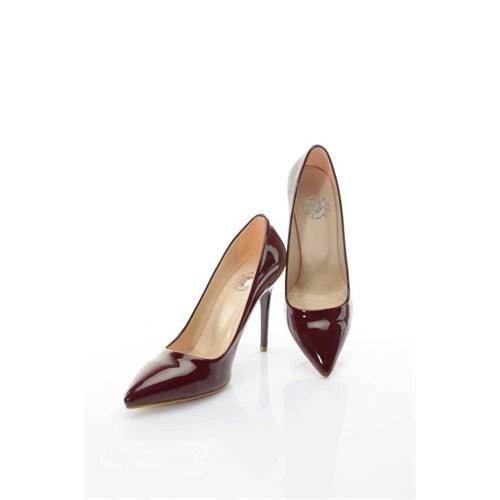 Shoes&Moda Bordo (Rugan) Kadın Stiletto Ayakkabı 509-6-Nz015h29