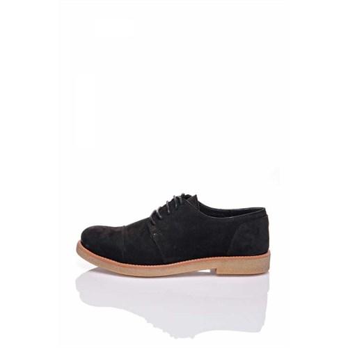 Bueno Siyah Klasik Kadın Nubuk Ayakkabı