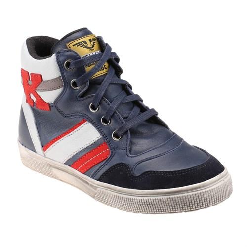 Yellow Kids 1711 Lacivert Erkek Çocuk Deri Sneaker Ayakkabı