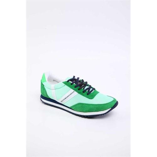 Versace 19.69 Abbigliamento Sportivo Srl. 19V69 Italia Erkek Yeşil Deri Spor Ayakkabı 5Vxm60410003