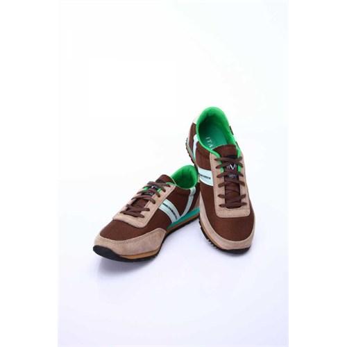 Versace 19.69 Abbigliamento Sportivo Srl. 19V69 Italia Erkek Açık Kahverengi-Yeşil Deri Spor Ayakkabı 5Vxm60410t9340