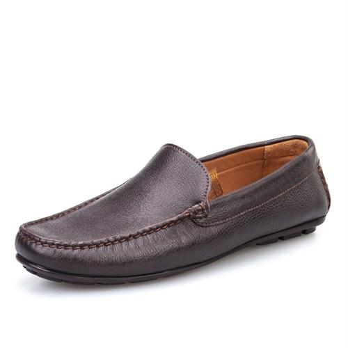 Cabani Makosen Günlük Erkek Ayakkabı Kahve Kırma Deri
