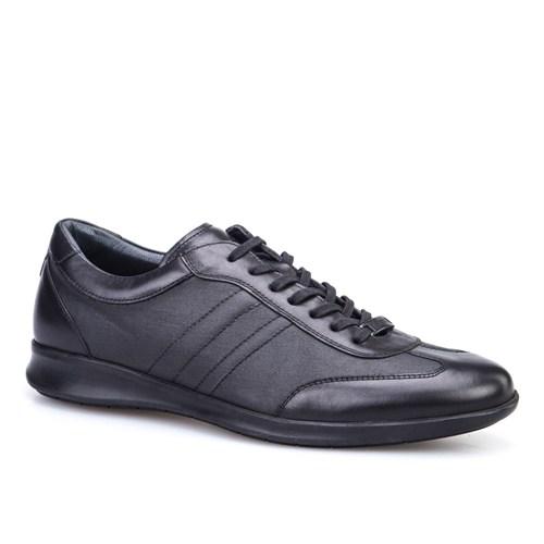 Cabani Bağcıklı Günlük Erkek Ayakkabı Siyah Soft Deri
