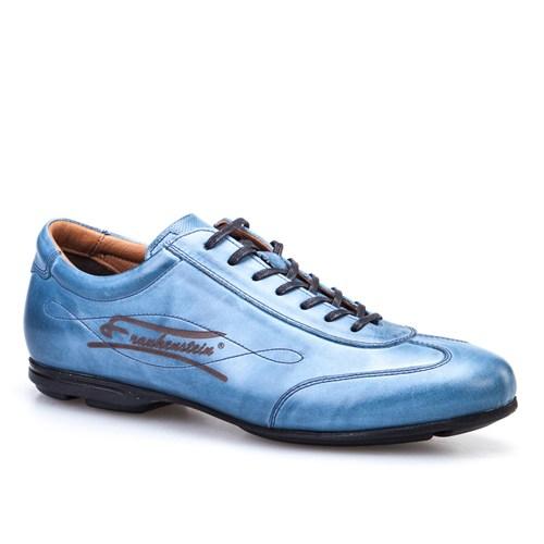 Cabani Frankenstein Günlük Erkek Ayakkabı Mavi Deri