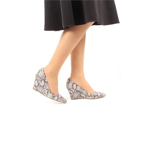 Gön Deri Kadın Ayakkabı 22267 Kum Yılan