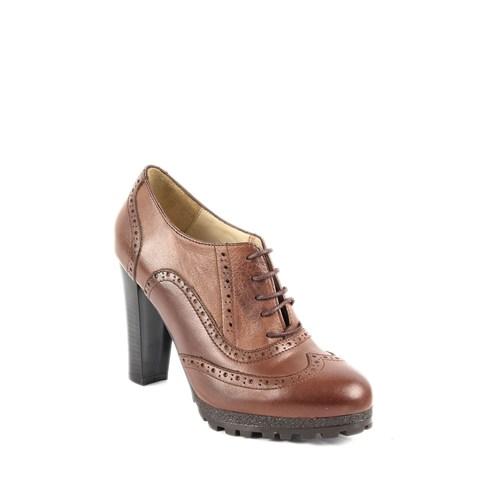 Gön Deri Kadın Ayakkabı 23140 Vizon Antik