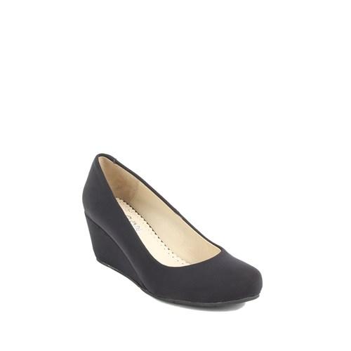 Gön Deri Kadın Ayakkabı 23165 Siyah Streç