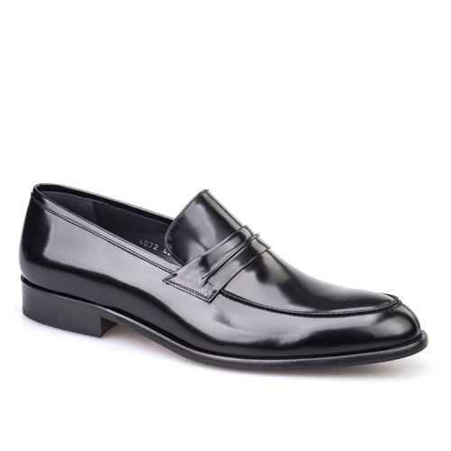 Cabani Kemerli Klasik Erkek Ayakkabı Siyah Açma Deri