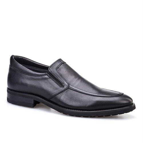 Cabani Bağcıksız Klasik Erkek Ayakkabı Siyah Deri