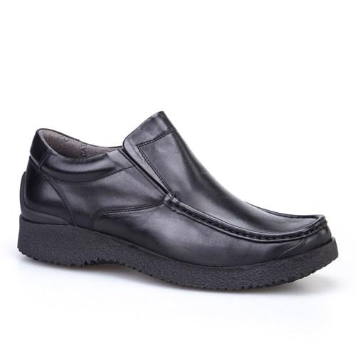 Cabani Bağcıksız Günlük Erkek Ayakkabı Siyah Analin Deri
