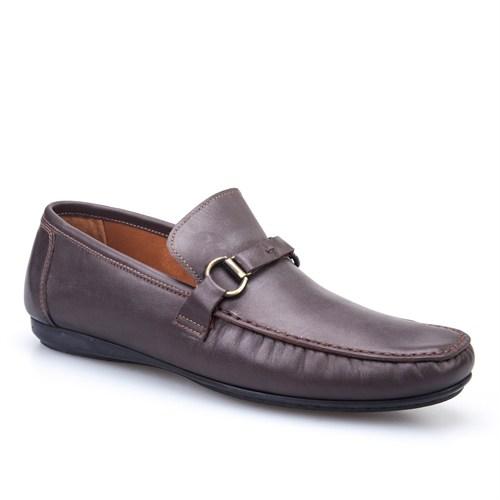 Cabani Kemerli Günlük Erkek Ayakkabı Kahverengi Soft Deri