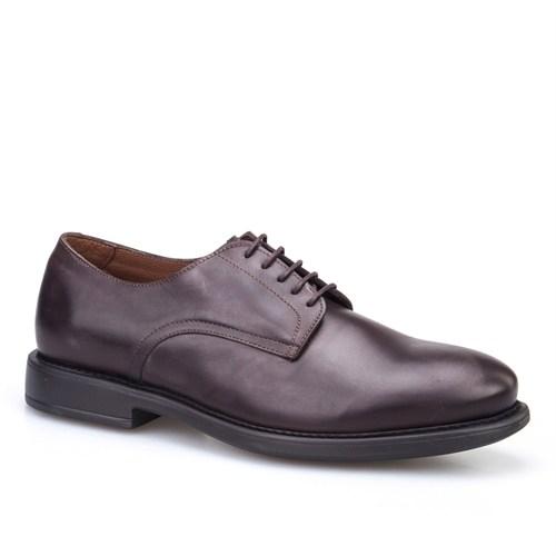 Cabani Bağcıklı Klasik Erkek Ayakkabı Kahverengi Deri