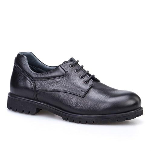Cabani Bağcıklı Klasik Erkek Ayakkabı Siyah Kırma Deri