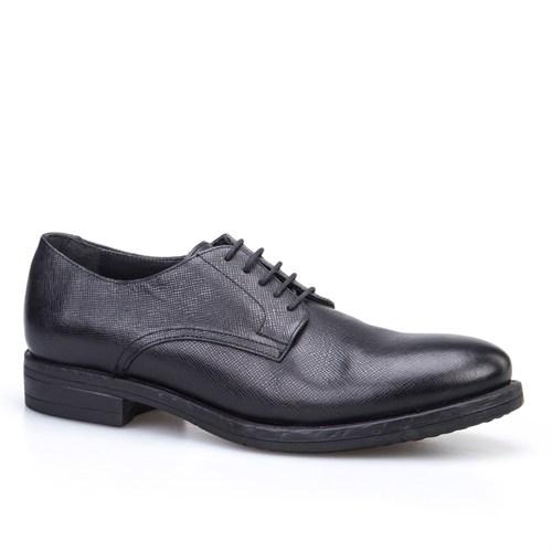 Cabani Bağcıklı Klasik Erkek Ayakkabı Siyah Napa Deri