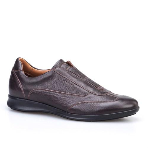Cabani Bağcıksız Günlük Erkek Ayakkabı Kahverengi Kırma Deri
