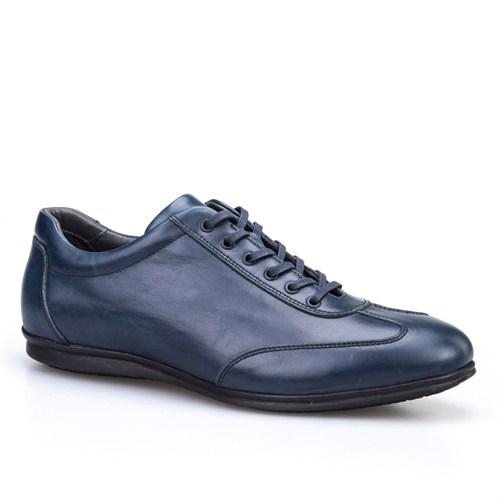 Cabani Bağcıklı Günlük Erkek Ayakkabı Lacivert Soft Deri