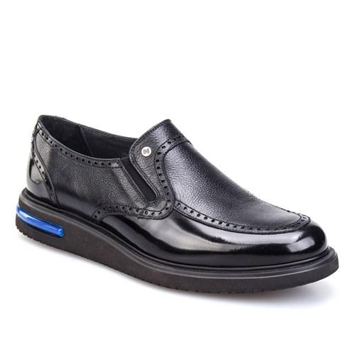 Cabani Oxford Günlük Erkek Ayakkabı Siyah Kırma Deri