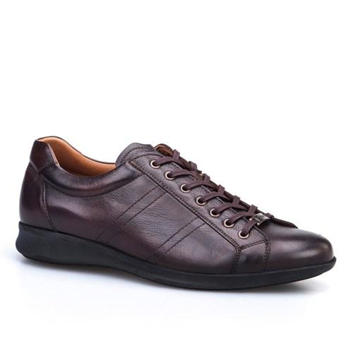 Cabani Bağcıklı Günlük Erkek Ayakkabı Kahverengi Sanetta Deri