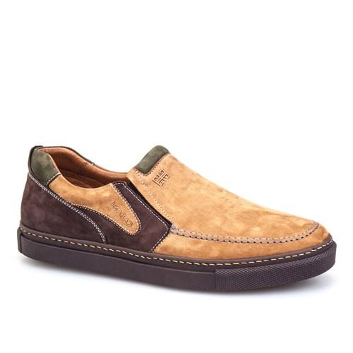 Cabani Bağcıksız Sneaker Erkek Ayakkabı Taba Nubuk