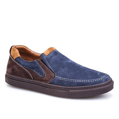 Cabani Bağcıksız Sneaker Erkek Ayakkabı Lacivert Nubuk