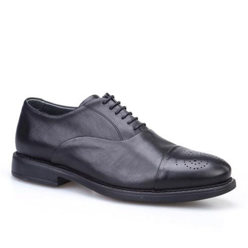 Cabani Bağcıklı Klasik Erkek Ayakkabı Siyah Analin Deri