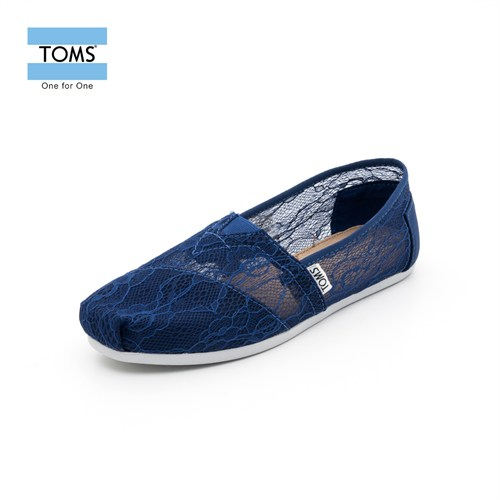 Toms 10004971 İnk Lace Wm Clsc Alprg Navy